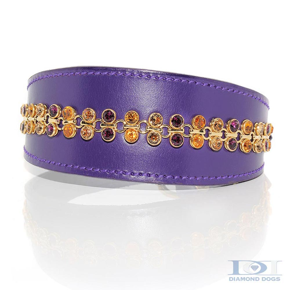Tapered Gold Link Collar - Made with SWAROVSKI® ELEMENTS
