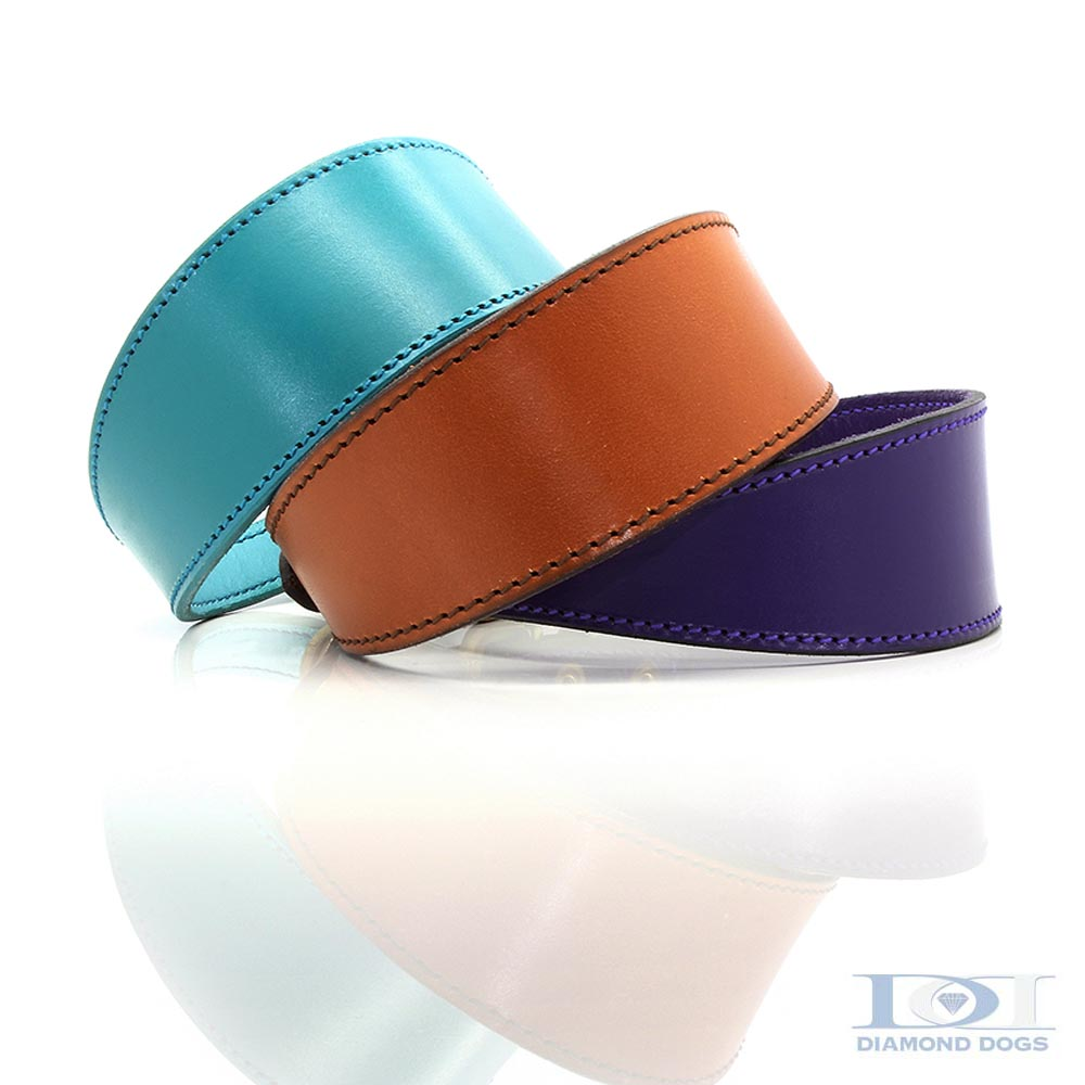 Tapered Plain Leather Collars
