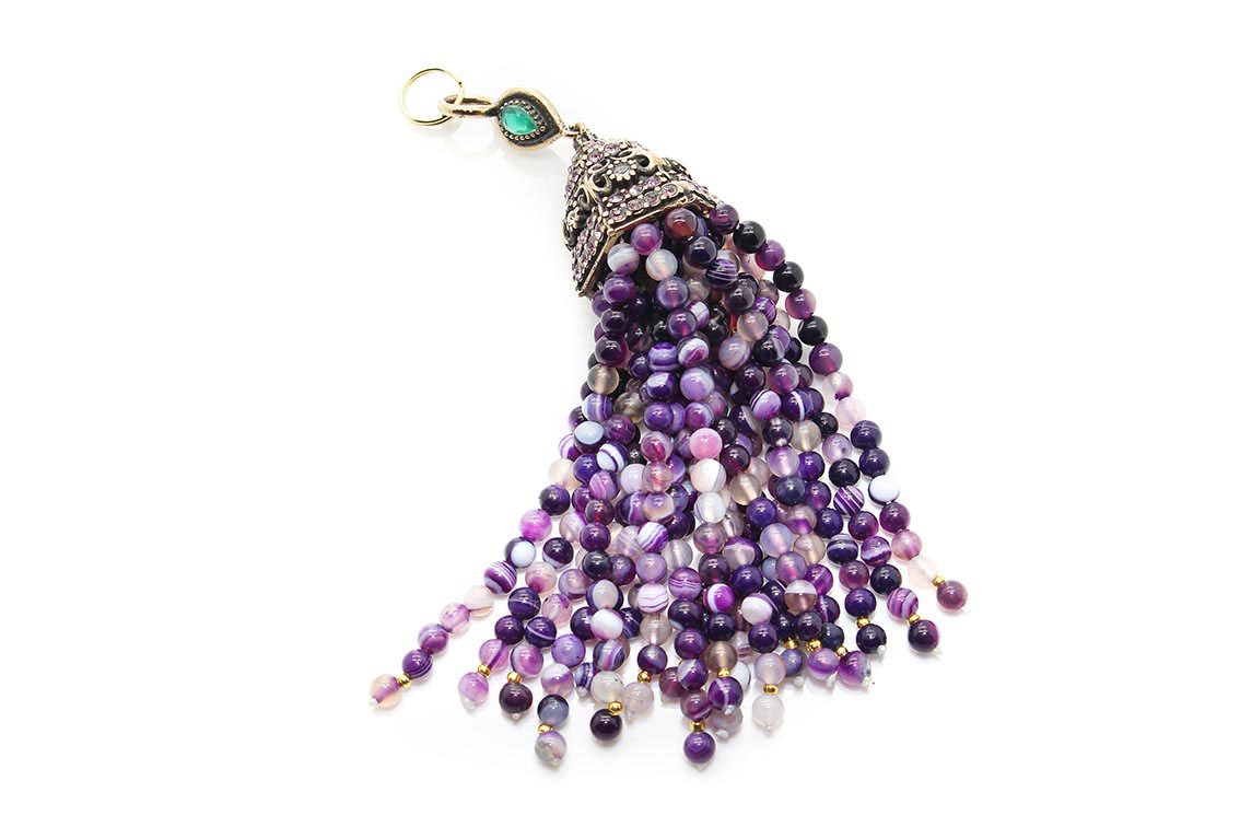 Semi-Precious Beaded Tassels