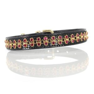 2 Row Gold Link Collar - Made with SWAROVSKI® ELEMENTS